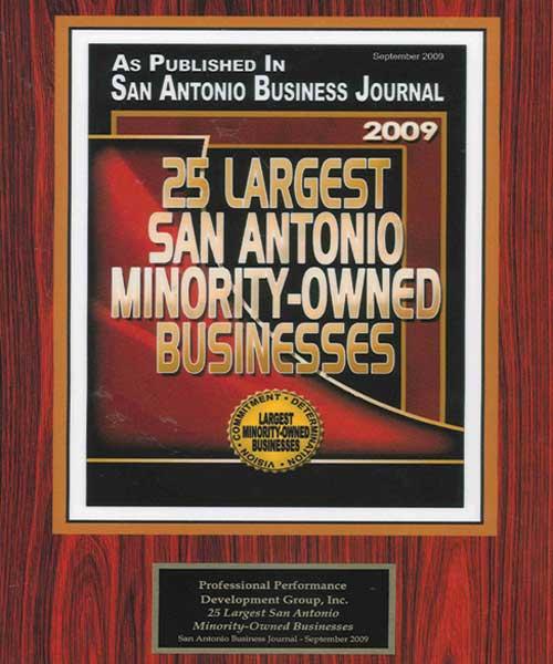 ppdg 25 San Antonio award